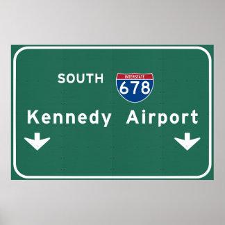 Kennedy-Flughafen JFK I-678 NYC New York City NY Poster