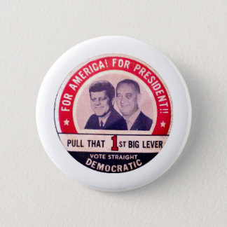 Kennedy- und Johnson-Kampagne Runder Button 5,1 Cm