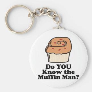 kennen Sie den Muffinmann Standard Runder Schlüsselanhänger