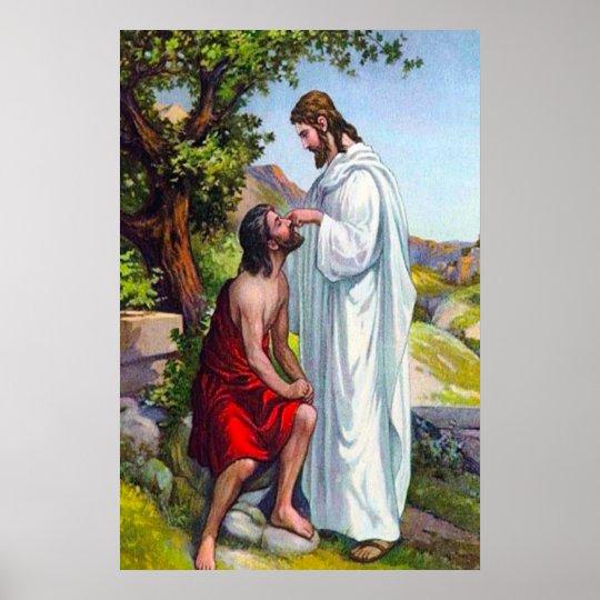 Kennzeichen-8:22 - 26 Jesus heilt einen blinden Poster ...