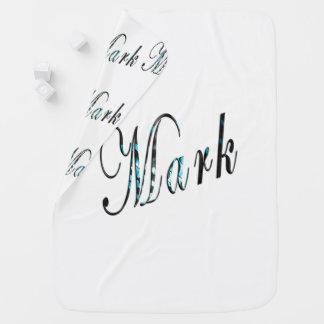 Kennzeichen, Name, Logo, Weiß-gemütlich Baby-Decke Puckdecke