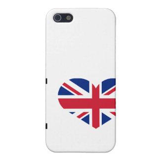 Kennzeichenherz nationaler Flagge Liebe I Englands iPhone 5 Case