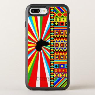 Kente Stoff-Muster-afrikanischer Druck OtterBox Symmetry iPhone 8 Plus/7 Plus Hülle