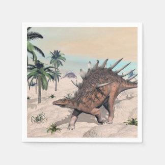Kentrosaurusdinosaurier in der Wüste - 3D Papierserviette