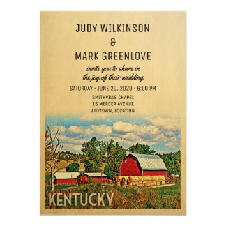 Kentucky-Hochzeits-Einladungs-Bauernhof-Scheune Karte