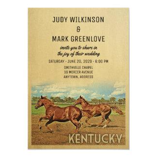 Kentucky-Hochzeits-Einladungs-Pferde Karte