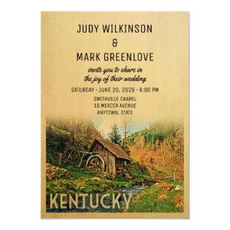 Kentucky-Hochzeits-Einladungs-rustikale Karte