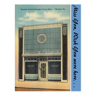 Kentucky, Spar- und Darlehens, Newport Postkarte