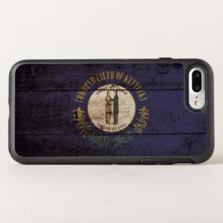 Kentucky-Staats-Flagge auf altem hölzernem Korn OtterBox Symmetry iPhone 8 Plus/7 Plus Hülle