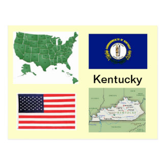 Kentucky USA Postkarte