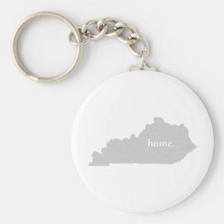 Kentucky-Zuhause-Silhouette-Staatskarte Schlüsselanhänger