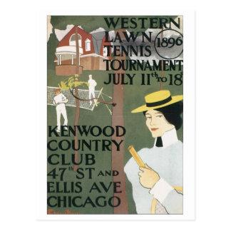 Kenwood Countryklub-Western-Rasen-Tennis Tournamen Postkarte