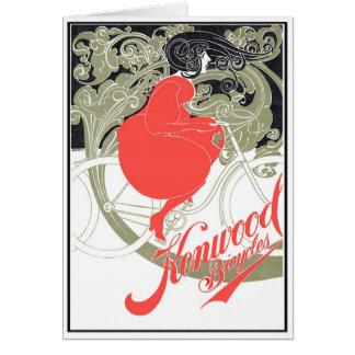 Kenwood fährt Kunst Nouveau rad Karte