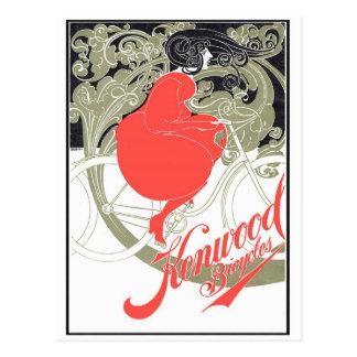 Kenwood fährt Kunst Nouveau rad Postkarte
