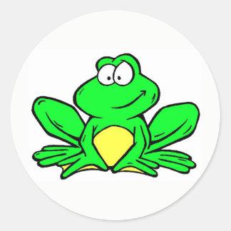 Kenwood Frosch-Maskottchen-Aufkleber - rund Runder Aufkleber