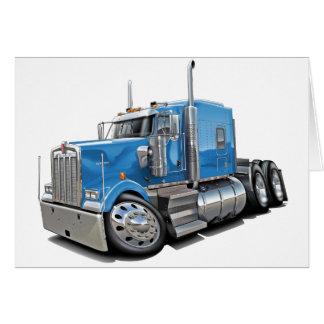 Kenworth w900 lt Blue Truck Karte