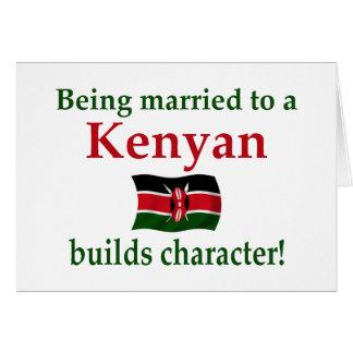 Kenyan errichtet Charakter Karte