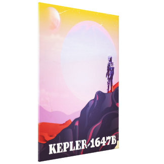 Kepler - Plakat der Reise 1647B Leinwanddruck