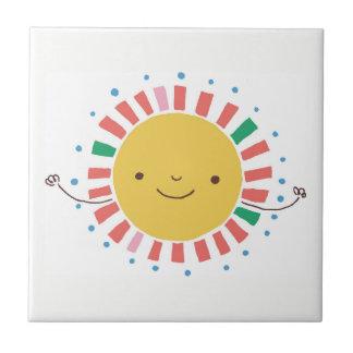 Keramik-Akzent-Fliese mit gelbem Sun-Regenbogen Keramikfliese