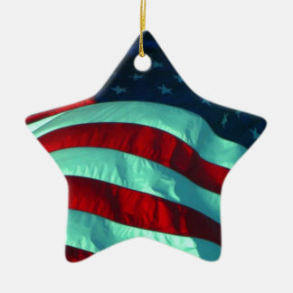 Keramik-amerikanische Flaggen-Stern-Verzierung Keramik Stern-Ornament