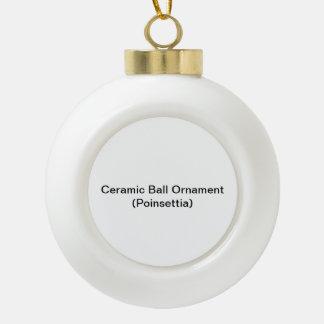 Keramik-Ball-Verzierung (Poinsettia) Keramik Kugel-Ornament