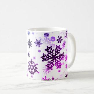 Keramik-Kaffee-Tasse-Lila Schneeflocken Kaffeetasse
