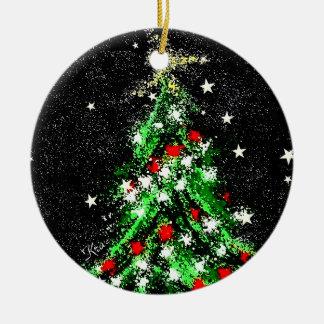 Keramik-Kreis der Weihnachtsverzierungs-(Baum) Keramik Ornament