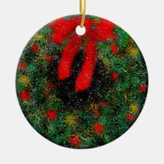Keramik-Kreis der Weihnachtsverzierungs-(Wreath) Keramik Ornament