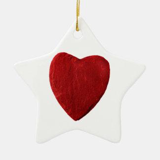 Keramik Stern Ornament mit Herz
