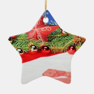 Keramik Stern Ornament Weihnachten
