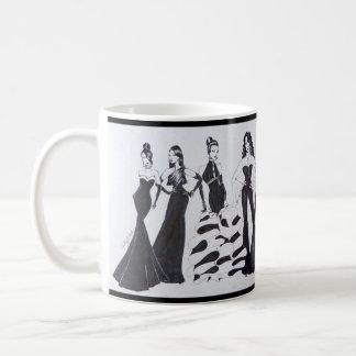 Keramik-Tasse mit schöner Mode-Grafik Kaffeetasse