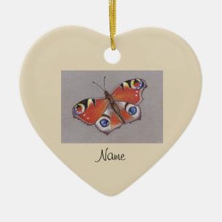 Keramik-Verzierung mit Pfau-Schmetterlings-Entwurf Keramik Ornament