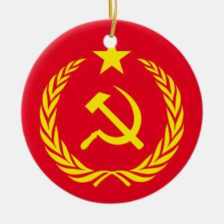 Keramik-Verzierungs-kalter Kriegs-Kommunist-Flagge Keramik Ornament