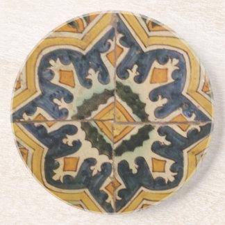 Keramikfliesen-Gelbstern des Ottoman türkischer Untersetzer