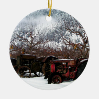 Keremeos Obstgarten im Winter Keramik Ornament