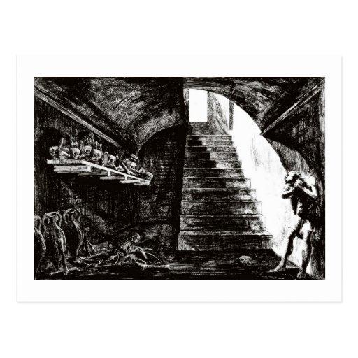 Kerker der Verzweiflungspostkarte Postkarte