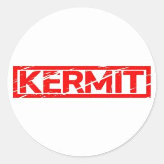 KERMIT-Briefmarke Runder Aufkleber