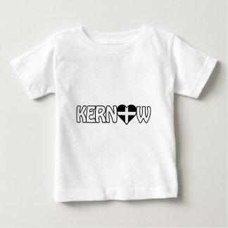 Kernow Herz umgekehrter Logo-T - Shirt