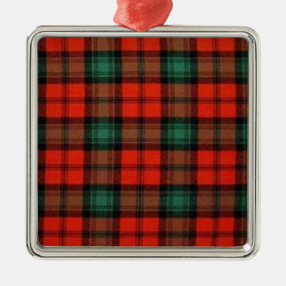 Kerr alter Tartan-erstklassige quadratische Silbernes Ornament