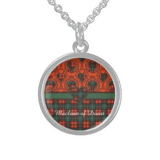 Kerr Clan karierter schottischer Tartan Sterling Silberkette
