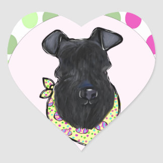 Kerry-Blau Terrier Herz-Aufkleber