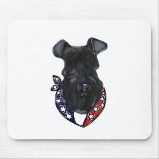 Kerry-Blau Terrier Juli 4. Mousepad
