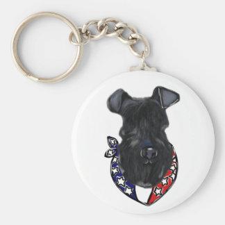 Kerry-Blau Terrier Juli 4. Schlüsselanhänger