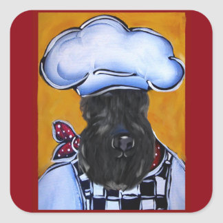 Kerry-Blau-Terrier-Koch Quadratischer Aufkleber