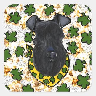 Kerry-Blau Terrier Quadratischer Aufkleber