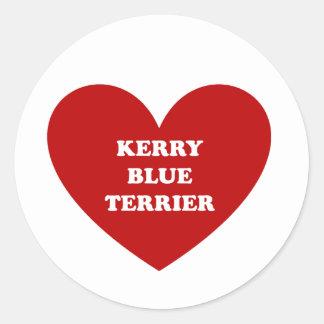 Kerry-Blau Terrier Runder Aufkleber