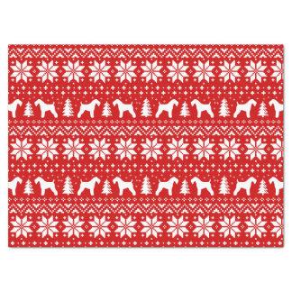 Kerry-Blau-Terrier-Silhouette-Weihnachtsmuster Seidenpapier