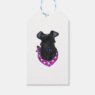 Kerry-Blau-Terrier-Valentinsgruß Geschenkanhänger