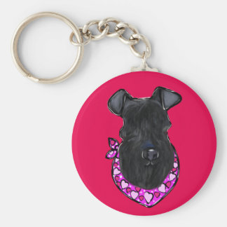 Kerry-Blau-Terrier-Valentinsgruß Schlüsselanhänger