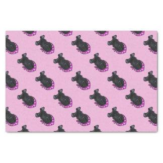 Kerry-Blau-Terrier-Valentinsgruß Seidenpapier